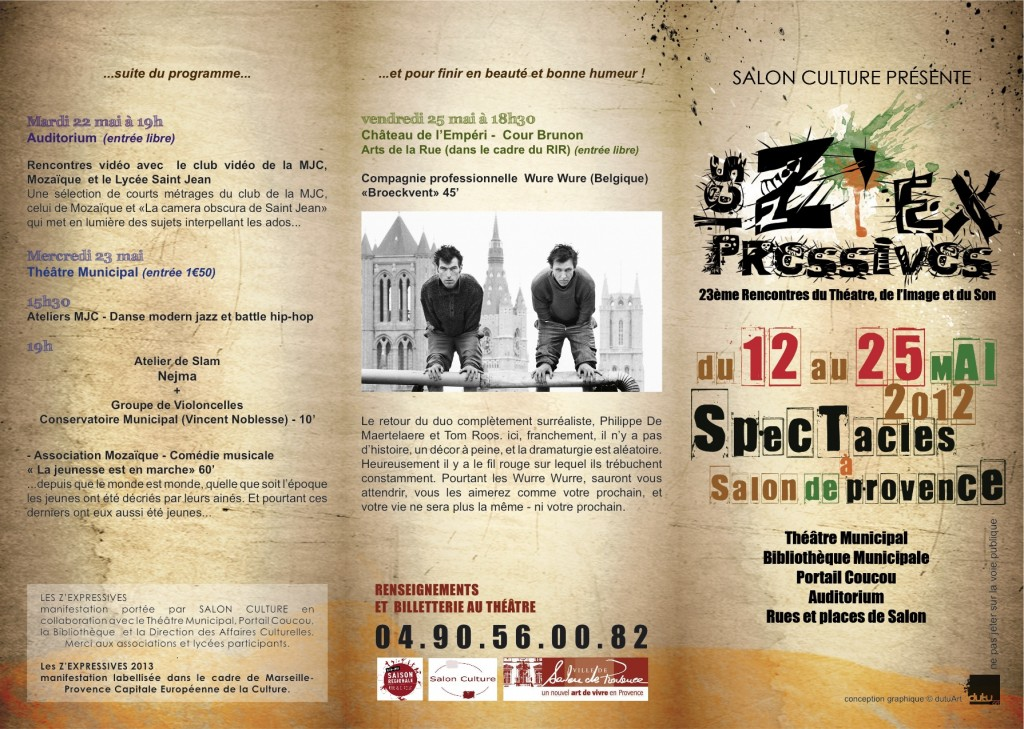 PROGRAMME LES ZEXPRESSIVES 2012 1