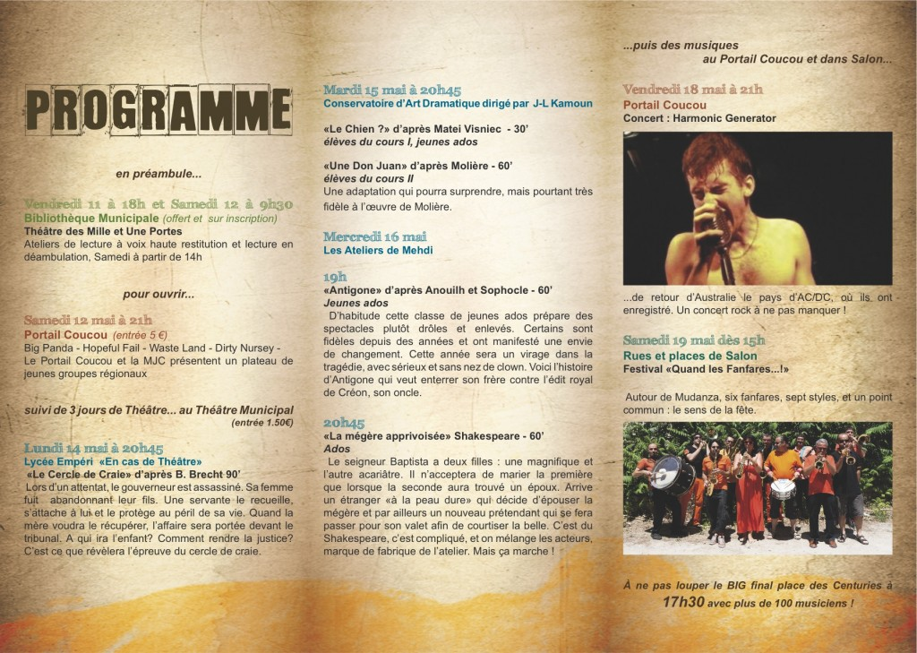PROGRAMME LES ZEXPRESSIVES 2012 2