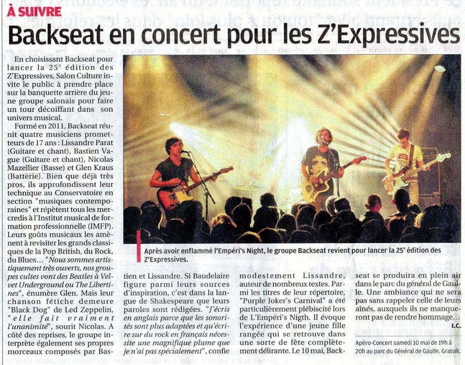 Annonce concert
