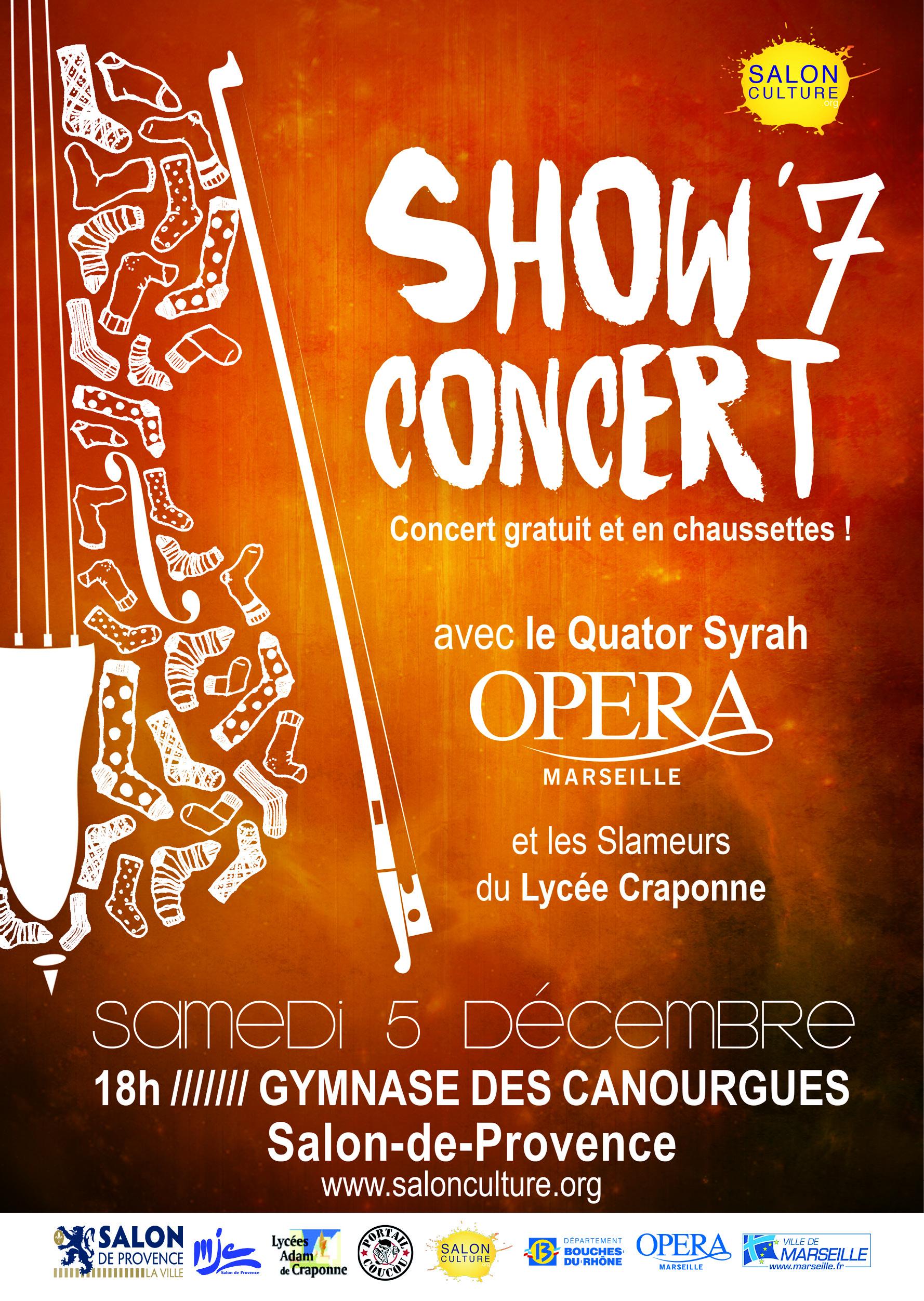 Show 7 concert 2015 salon culture for Lycee craponne salon